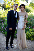 Matthew Morrison and Renee Puente at Elton John's White Tie and Tiara Ball