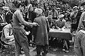 Iraq 1974 <br /> The resumption of hostilities,refugees,coming from the plains having a medical check up  in Nawpurdan  <br /> Irak 1974 <br /> La reprise de la lutte arm&eacute;e, par milliers des Kurdes volontaires passent une visite m&eacute;dicale a Nawpurdan