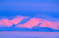Brooks range mountains in evening light, Arctic, Alaska
