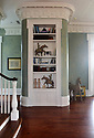 The 13-acre estate and home of the Conwills will be open on the Pass Christian Historical Society Garden party and home tour this year, featuring this built-in book case in the living room.