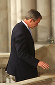 United States President George W. Bush leaves the pulpit following his remarks during the National Day of Prayer Service at the Washington National Cathedral in Washington, D.C. on Friday, September 14, 2001.  .Credit: Ron Sachs / CNP