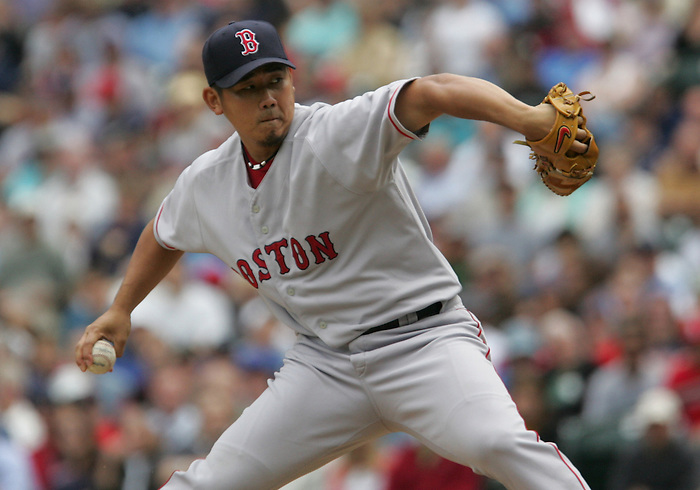 27 June 2007: Red Sox pitcher Daisuke Matsuzaka Seattle Mariners vs Boston Red Sox at Safeco Park in Seattle, Washington.