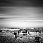 Remains on North Norfolk coastline, Long exposure