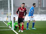 Queen of the South v St Johnstone...07.02.15    Scottish Cup 5th Round<br /> Michael O'Hallorsan reacts to his missed chance<br /> Picture by Graeme Hart.<br /> Copyright Perthshire Picture Agency<br /> Tel: 01738 623350  Mobile: 07990 594431