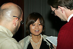 11 January 2008:  Mami Yamaguchi (Japan) of Florida State talks with local St. Louis newsmen after being awarded the 2007 Hermann Trophy.....The 2007 Hermann Trophy was presented to the NCAA Division I female and male players of the year by the Missouri Athletic Club in St. Louis, Missouri.