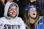 26 October 2014: U.S. fans. The United States Women's National Team played the Costa Rica Women's National Team at PPL Park in Chester, Pennsylvania in the 2014 CONCACAF Women's Championship championship game. By advancing to the final, both teams have qualified for next year's Women's World Cup in Canada. The United States won the game 6-0.
