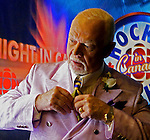 Don Cherry preparing for Coach's Corner on CBC in Calgary, Alberta. Photo by John Ulan/EPIC Photography Inc.