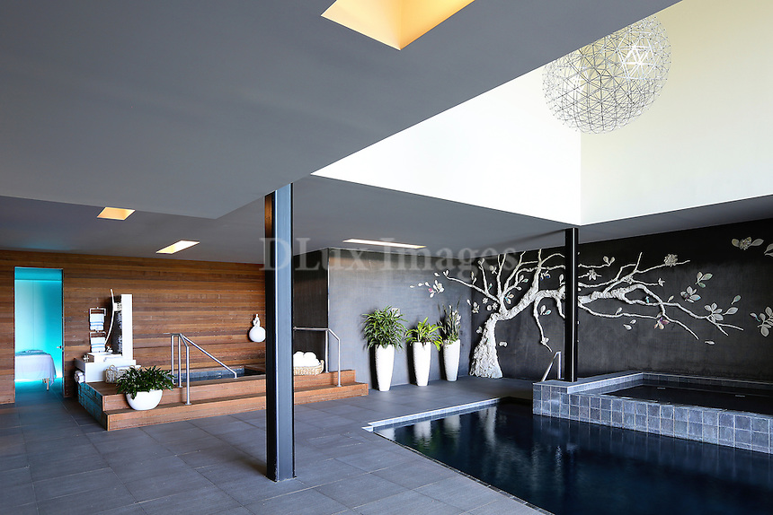 Interior pool area