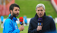 Lincoln City manager Danny Cowley is interviewed by BT Sport before kick off<br /> <br /> Photographer Andrew Vaughan/CameraSport<br /> <br /> Vanarama National League - Gateshead v Lincoln City - Monday 17th April 2017 - Gateshead International Stadium - Gateshead <br /> <br /> World Copyright &copy; 2017 CameraSport. All rights reserved. 43 Linden Ave. Countesthorpe. Leicester. England. LE8 5PG - Tel: +44 (0) 116 277 4147 - admin@camerasport.com - www.camerasport.com