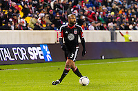 Robbie Russell (3) of D. C. United. D. C. United defeated the New York Red Bulls 1-0 (2-1 in aggregate) during the second leg of the MLS Eastern Conference Semifinals at Red Bull Arena in Harrison, NJ, on November 8, 2012.