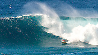 Waimea Bay, North Shore, Oahu, Hawaii (Wednesday, February 10 2016): kai Lenny (HAW). The Quiksilver In Memory of Eddie Aikau was given the Green light 'Go' signal two days ago with a forecasted big swell due to hit on Wednesday morning. Everything was put in place for the event to kick off with some contestants flying into Hawaii from Chile, France, Australia and the US mainland. Unfortunalty the predicted swell failed to arrive as predicted as the storm front moved North of the islands forcing the postponement . <br /> Photo: joliphotos.com