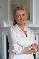 Portrait of Christine Rucker, owner of The White Company, in her drawing room