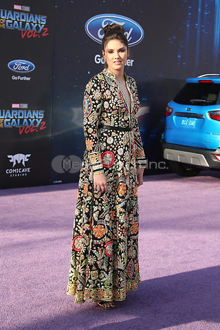 "HOLLYWOOD, CA - April 19: Ronni Hawk, At Premiere Of Disney And Marvel's ""Guardians Of The Galaxy Vol. 2"" At The Dolby Theatre  In California on April 19, 2017. Credit: FS/MediaPunch"