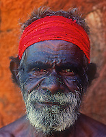 Aboriginal Tribal elder from Uluru, Ayers Rock