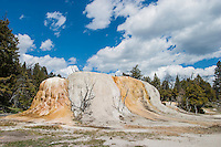 Orange Mound Spring in Yellowstone National Park