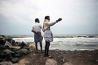 Fishermen at Kichankuppam beach at Nagapattinam. This was one of the most affected areas by 2004 Tsunami in Tamil Nadu, India.