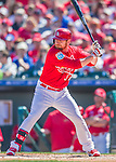 6 March 2016: St. Louis Cardinals outfielder Brandon Moss in action during a Spring Training pre-season game against the Washington Nationals at Roger Dean Stadium in Jupiter, Florida. The Nationals defeated the Cardinals 5-2 in Grapefruit League play. Mandatory Credit: Ed Wolfstein Photo *** RAW (NEF) Image File Available ***