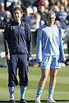 07 December 2008: North Carolina's Yael Averbuch (17) and Allie Long (21). The University of North Carolina Tar Heels defeated the Notre Dame Fighting Irish 2-1 at WakeMed Soccer Park in Cary, NC in the championship game of the 2008 NCAA Division I Women's College Cup.