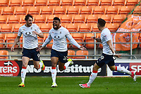 Luton Town's Isaac Vassell celebrates scoring his sides second goal <br /> <br /> Photographer Richard Martin-Roberts/CameraSport<br /> <br /> The EFL Sky Bet League Two Play-Off Semi Final First Leg - Blackpool v Luton Town - Sunday May 14th 2017 - Bloomfield Road - Blackpool<br /> <br /> World Copyright &copy; 2017 CameraSport. All rights reserved. 43 Linden Ave. Countesthorpe. Leicester. England. LE8 5PG - Tel: +44 (0) 116 277 4147 - admin@camerasport.com - www.camerasport.com