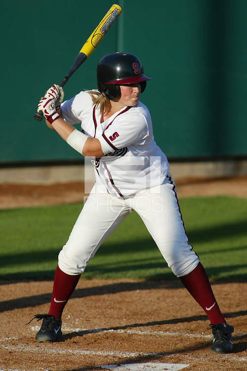 27 May 2005: Michelle Smith during Stanford's 2-0 loss to the University of Tennessee in the NCAA Softball Super Regional at Jill and Boyd Smith Family Stadium in Stanford, CA.