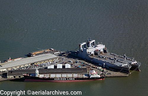 aerial photograph Pier 50 Westar Marine Services San Francisco, California