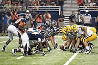 SAN ANTONIO, TX - SEPTEMBER 8, 2012: The Texas A&M University-Commerce Lions versus the University of Texas at San Antonio Roadrunners Football at the Alamodome. (Photo by Jeff Huehn)