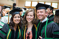 Martha Choate, left, Meghan Beucher, James Dunlop. Class of 2012 commencement.
