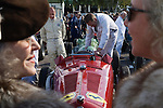 Goodwood Festival of Speed. Goodwood Sussex.  American woman her husband owns this car. See here with English friend. Interview.