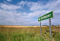 A sign for a settlement called Afrikaner.