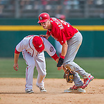 13 March 2016: St. Louis Cardinals outfielder Jeremy Hazelbaker slides safely into second during a pre-season Spring Training game against the Washington Nationals at Space Coast Stadium in Viera, Florida. The teams played to a 4-4 draw in Grapefruit League play. Mandatory Credit: Ed Wolfstein Photo *** RAW (NEF) Image File Available ***