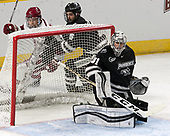 (Malone, McKenzie) Hayden Hawkey (PC - 31) - The Harvard University Crimson defeated the Providence College Friars 3-0 in their NCAA East regional semi-final on Friday, March 24, 2017, at Dunkin' Donuts Center in Providence, Rhode Island.