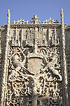 Facade of National Sculpture Museum once the Convent of St Gregorio, Valladolid, Castile and Leon, Spain