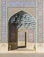 Nasir al-Mulk Mosque, (aka the Pink Mosque) Shiraz, Iran. Built 1876 -1888. Architects: Muhammad Hasan-e-Memar and Muhammad Reza Kashi Paz-e-Shirazi.
