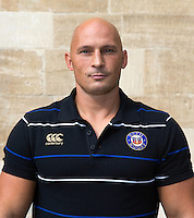 Strength and Conditioning Coach Matt Pickard poses for a portrait at a Bath Rugby photocall. Bath Rugby Media Day on September 8, 2015 at Farleigh House in Bath, England. Photo by: Rogan Thomson for Onside Images