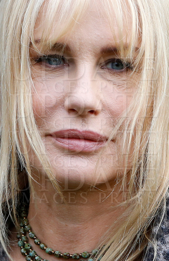 L'attrice statunitense Daryl Hannah posa durante un photocall in occasione dell'inizio delle riprese del film &quot;Sights of Death&quot; a Roma, 23 gennaio 2014.<br /> U.S. actress Daryl Hannah poses during a photocall on the occasion of the start of the shooting of the movie &quot;Sights of Death&quot; in Rome, 23 January 2014.<br /> UPDATE IMAGES PRESS/Riccardo De Luca