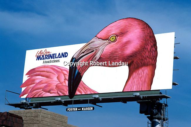 A billboard for Marineland in Los Angeles, CA