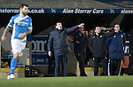 St Johnstone v Rangers&hellip;28.12.16     McDiarmid Park    SPFL<br />Tomy Wright and Callum Davidson give instructions<br />Picture by Graeme Hart.<br />Copyright Perthshire Picture Agency<br />Tel: 01738 623350  Mobile: 07990 594431