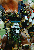 Men at Sing Sing tribal gathering  Mount Hagen, Papua New Guinea