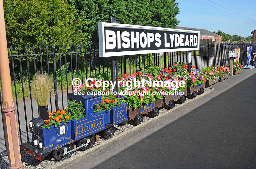 Logo, signage, station name, Bishops Lydeard, West Somerset Railway, UK, July, 2014, 201407093439<br /> <br /> Copyright Image from Victor Patterson, 54 Dorchester Park, Belfast, UK, BT9 6RJ<br /> <br /> Tel: +44 28 9066 1296<br /> Mob: +44 7802 353836<br /> Voicemail +44 20 8816 7153<br /> w: victorpatterson.com<br /> <br /> e1: victorpatterson@me.com<br /> e2: victorpatterson@gmail.com<br /> <br /> <br /> IMPORTANT: Please see my Terms and Conditions of Use at www.victorpatterson.com