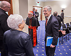 Jan. 27, 2014; Maria Voce speaks with University of Notre Dame Provost Thomas Burish at the Notre Dame Rome Centre.<br /> <br /> Photo by Matt Cashore/University of Notre Dame
