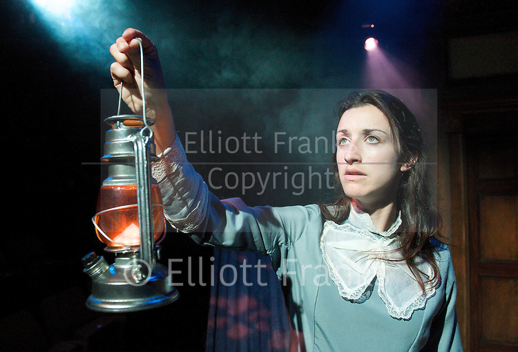 Scared To Death <br /> by Ron Aldridge<br /> based on an original idea by Sally Hughes<br /> The Mill at Sonning Theatre<br /> Sonning<br /> Great Britain <br /> Final Dress Rehearsal <br /> 13th September 2012 <br /> <br /> Steven Pinder as Clem Watkins<br /> Conor Sheridan as Will Nichols<br /> Nick Waring as Jacob Ford<br /> Naomi Cranston as Mary Nichols<br /> Matthew Wynn as John Doherty <br /> <br /> special effects by Paul Daniels<br /> directed by Ron Aldridge<br /> Set designed by Tony Eden<br /> Costumes by Jane Kidd<br /> Lighting by Matthew Biss<br /> <br /> Photograph by Elliott Franks