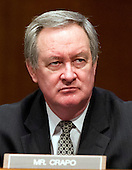 United States Senator Mike Crapo (Republican of Idaho), a member of the U.S. Senate Finance Committee listens to the testimony U.S. Secretary of Health and Human Services (HHS) Kathleen Sebelius during a hearing on the agency's FY 2013 budget proposal on Capitol Hill in Washington, D.C. on Wednesday, February 15, 2012..Credit: Ron Sachs / CNP