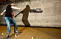Skaters in Trafalgar Square - London 2011