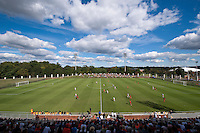 The second half starts at at Klockner Stadium in Charlottesville, VA.  Virginia defeated Maryland, 1-0.