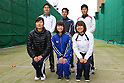 (front row L to R) Ren Hayakawa, Kaori Kawanaka, Miki Kanie (JPN), .(back row L to R) Hideki Kikuchi, Yu Ishizu, Takaharu Furukawa (JPN), .April 22, 2012 - Archery : .Archery Japan National Team Selection match for The World Cup Ogden 2012 .at JISS Archery Field, Tokyo, Japan. .(Photo by Daiju Kitamura/AFLO SPORT) [1045]