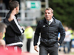 St Johnstone v Celtic&hellip;20.08.16..  McDiarmid Park  SPFL<br />Brendan Rodgers has a go at 4th official Andrew Dallas<br />Picture by Graeme Hart.<br />Copyright Perthshire Picture Agency<br />Tel: 01738 623350  Mobile: 07990 594431