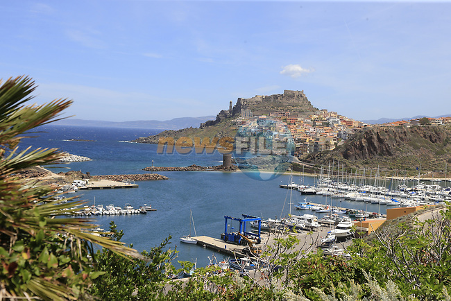 Castelsardo along the Costa Smeralda during Stage 1 of the 100th edition of the Giro d'Italia 2017, running 206km from Alghero to Olbia, Sardinia, Italy. 4th May 2017.<br /> Picture: Eoin Clarke | Cyclefile<br /> <br /> <br /> All photos usage must carry mandatory copyright credit (&copy; Cyclefile | Eoin Clarke)<br /> <br /> All photos usage must carry mandatory copyright credit (&copy; Cyclefile | LaPresse)
