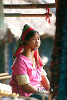 Karen are one of the largest hill tribes in Southeast Asia with many subgroups and cultural variations. One subgroup of the Red Karen (Kayah), the Kayan Lahwi (Padaung) tribe from the border region of Burma and Thailand, is believed to have migrated from Mongolia during the Bronze Age are best known for the neck rings worn by the women. Natives of Kayah State in Myanmar, in Northern Thailand they refer to themselves as Kayan and object to being called Padaung.