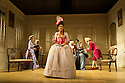THE SCHOOL FOR SCANDAL opens the Theatre Royal Bath's summer season of new in-house productions, overseen by leading guest director, Jamie Lloyd. Picture shows:  (front) Susannah Fielding (as Lady Teazle), Serena Evans (Lady Sneerwell), Timothy Speyer (servant), Grant Gillespie (Sir Benjamin Backbite), Zoe Rainey (Maria), Maggie Steed (Mrs Candour), Edward Bennett (Joseph Surface), David Killick (Crabtree).