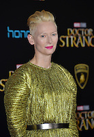 LOS ANGELES, CA. October 20, 2016: Tilda Swinton at the world premiere of Marvel Studios' &quot;Doctor Strange&quot; at the El Capitan Theatre, Hollywood.<br /> Picture: Paul Smith/Featureflash/SilverHub 0208 004 5359/ 07711 972644 Editors@silverhubmedia.com